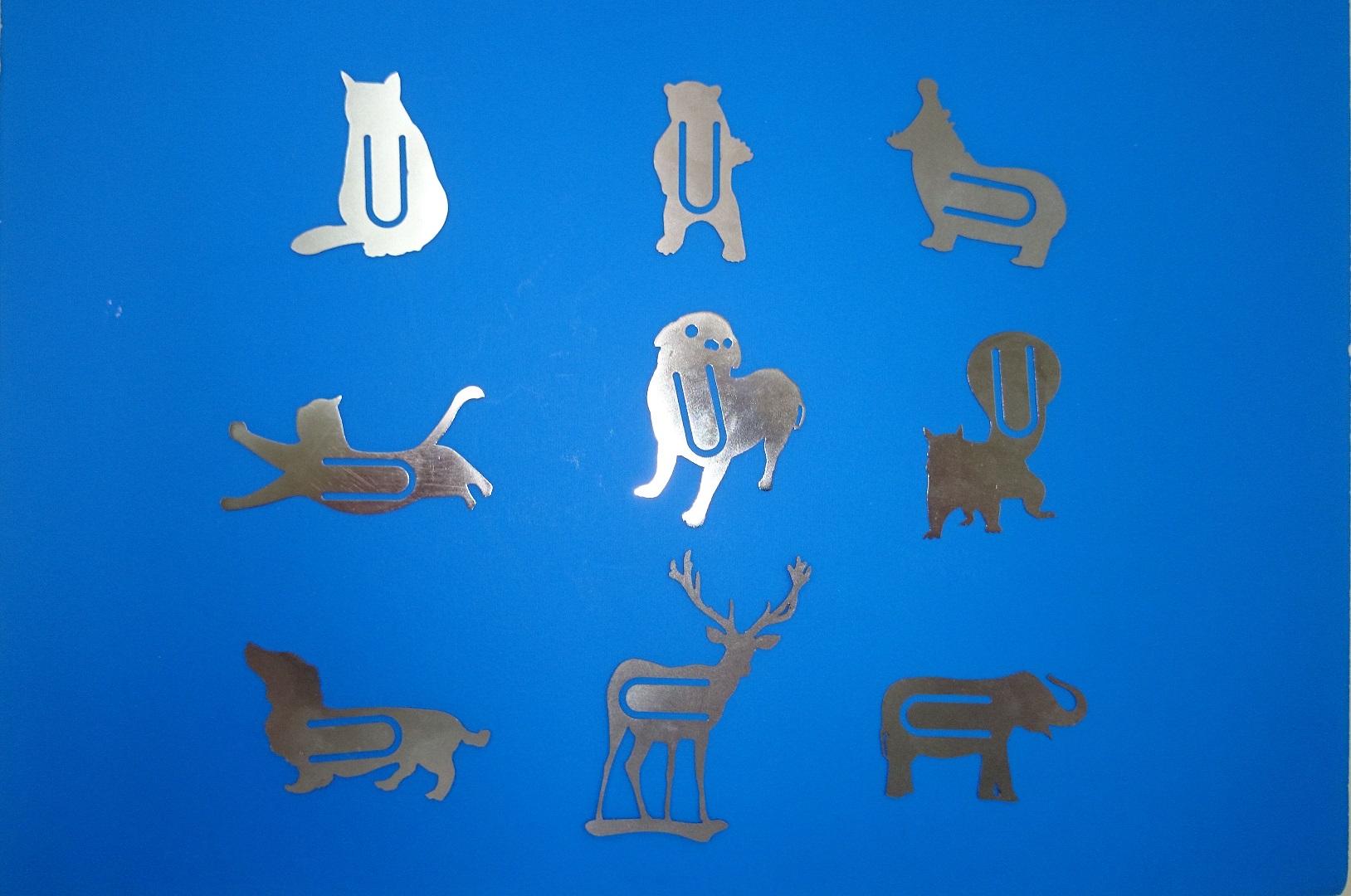精密板金で作る「動物クリップ」「ブックマーク」