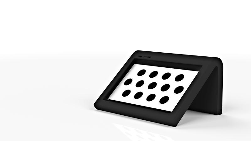 アール形状 タブレット対応キオスク端末筐体