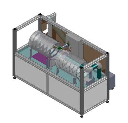 インライン式洗浄機縮尺モデル