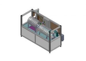 インラインスパイラル洗浄機縮尺モデル
