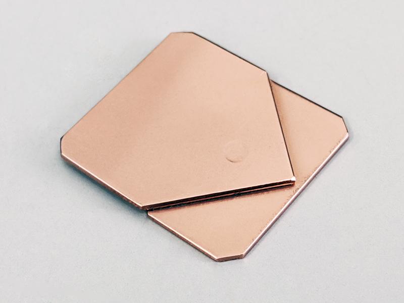 銅板のスポット溶接加工